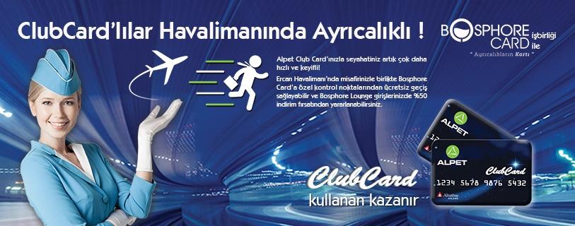 ALPET CLUB CARD ÜYELERİ HAVALİMANINDA AYRICALIKLI!