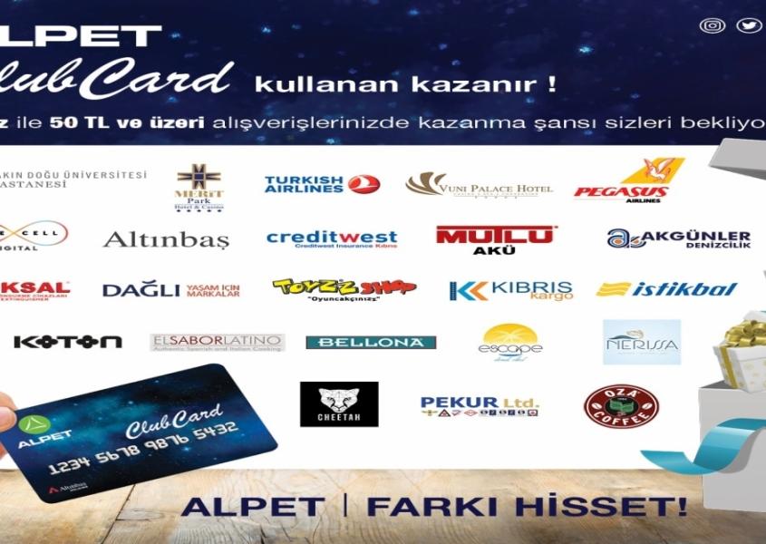 Alpet Clubcard ile kazanmaya devam edin!